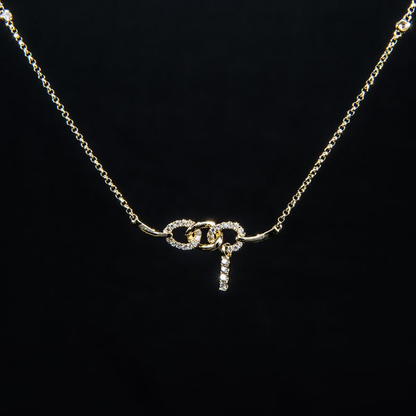 Bonded - 18K Yellow Gold Diamond Necklace