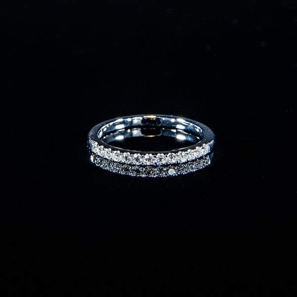Bright line - 18K White Gold Line Ring