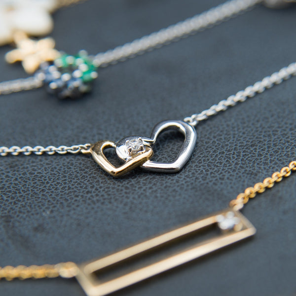 Double Heart Design is full of love - 14K Necklace
