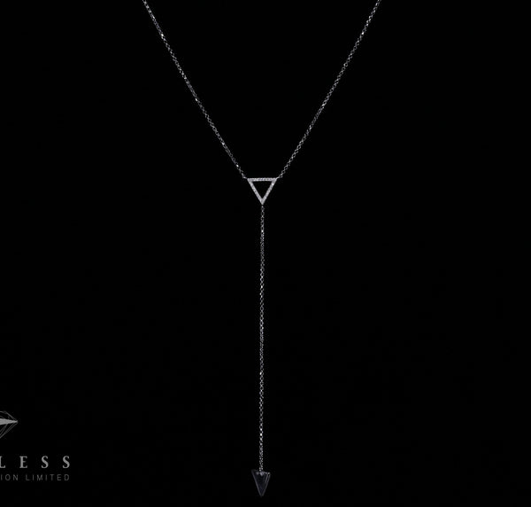 Triangle Chain - 18k Diamond Necklace