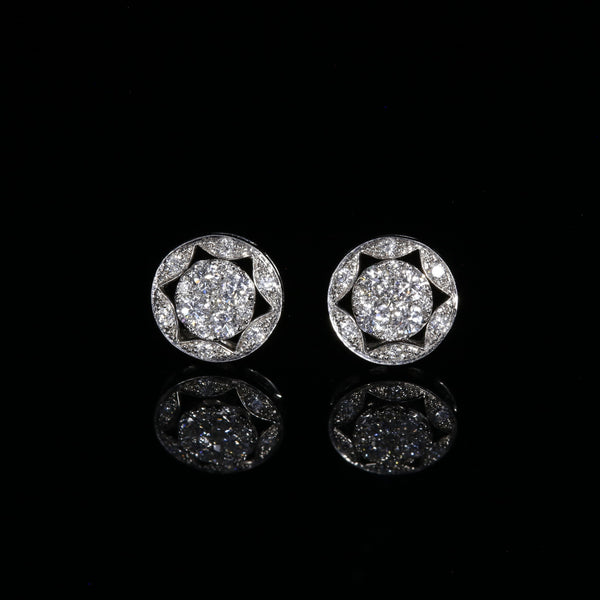 Full Moon, Sparkle and Sun (3 Way Diamond Earrings)