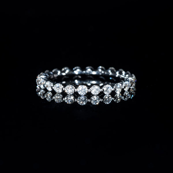 Eternity Diamond Ring (M) - 18K White Gold | Jress.com