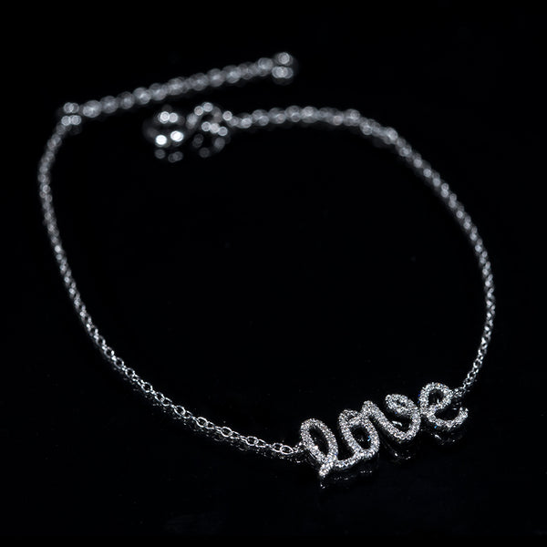 Love - 18K White Gold Diamond Bracelet | Jress.com