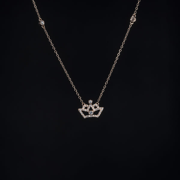 Crown - 18K Rose Gold Diamond Necklace | Jress.com