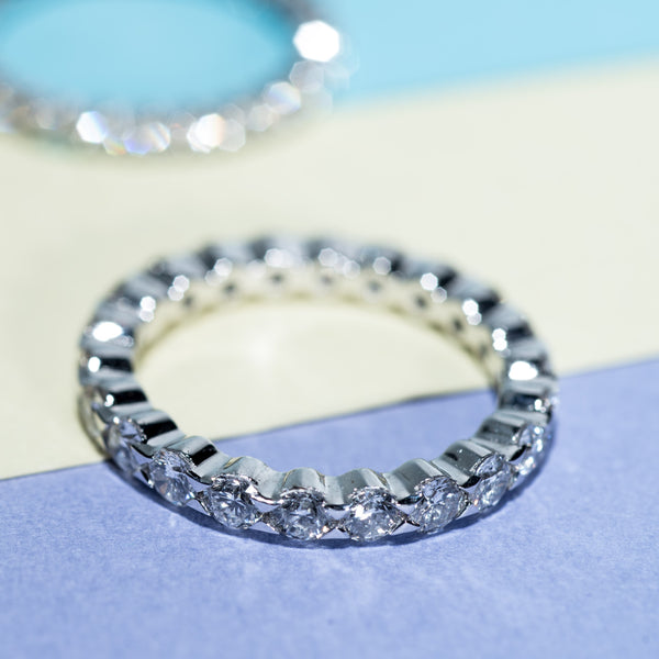 Eternity Diamond Ring (L) - 18K White Gold | Jress.com