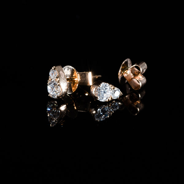 Rose Gold Diamond Earrings | Jress.com