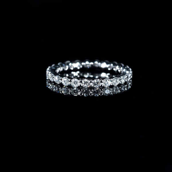 Diamond Eternity Ring (S) - 18K White Gold | Jress.com