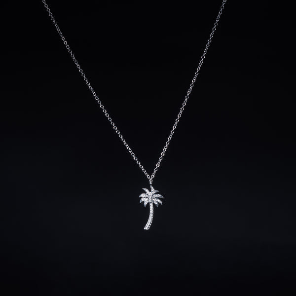 18k White Gold Diamond Necklace | Jress.com