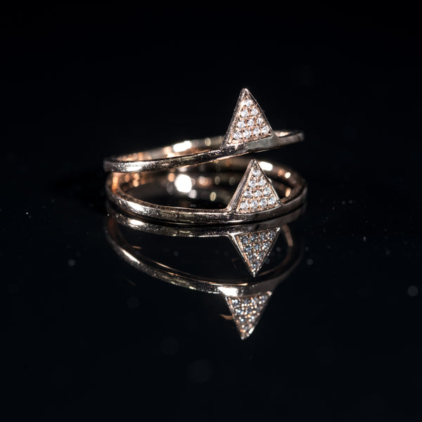 My Way - 18K Yellow Gold Diamond Ring | Jress.com