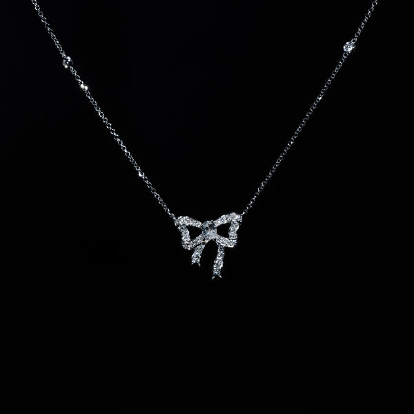 Diamond Ribbon Necklace | Jress.com