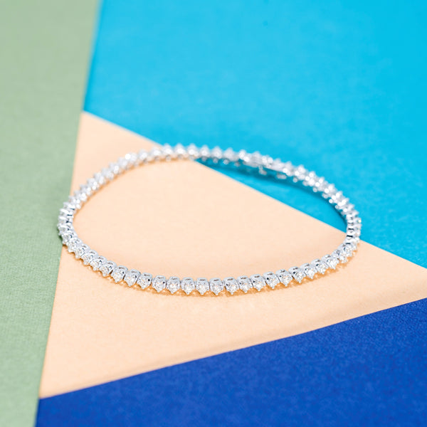 18K White Gold Diamond Infinity Bracelet | Jress.com