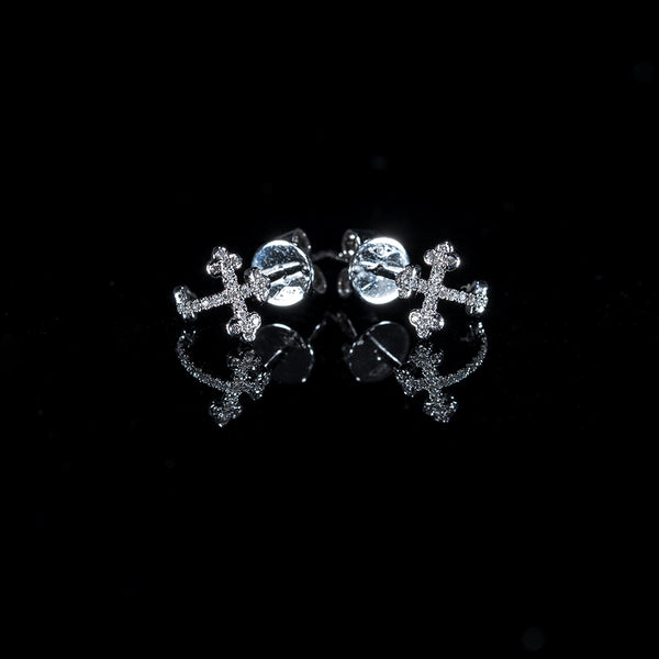 Cross - 18K White Gold Diamond Earrings | Jress.com