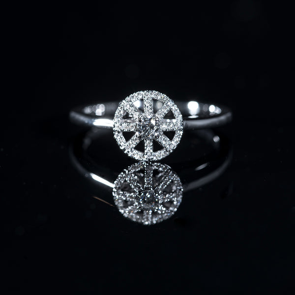 18K White Gold Diamond Ring | Jress.com