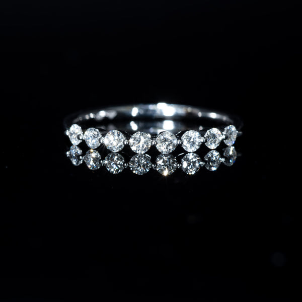 Half Eternity Diamond Ring - 18K White Gold | Jress.com