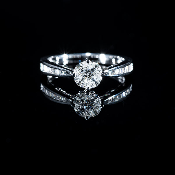Diamond Ring - 18K White Gold | Jress.com