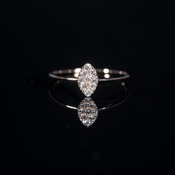 Marquise - 18K Rose Gold Diamond Ring | Jress.com