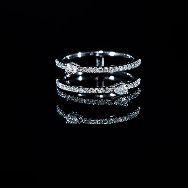 Double Eternity Diamond Ring (P) - 18K White Gold | Jress.com
