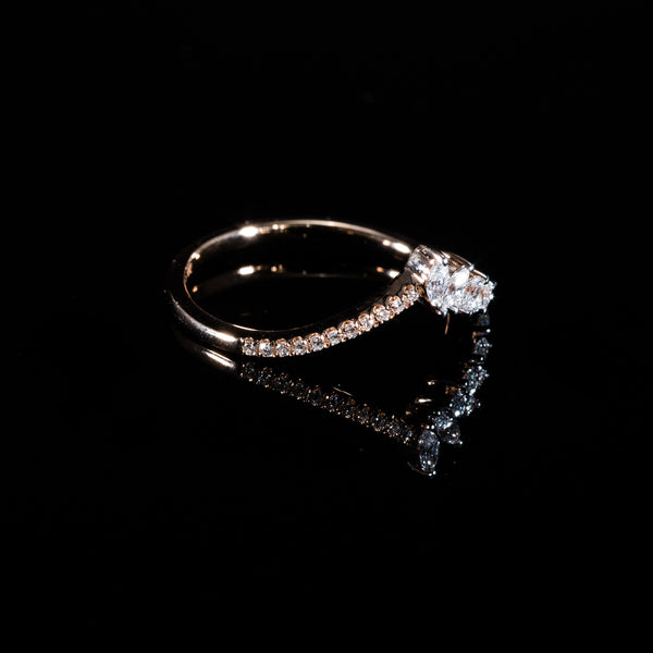 Rose Gold Diamond Ring | Jress.com
