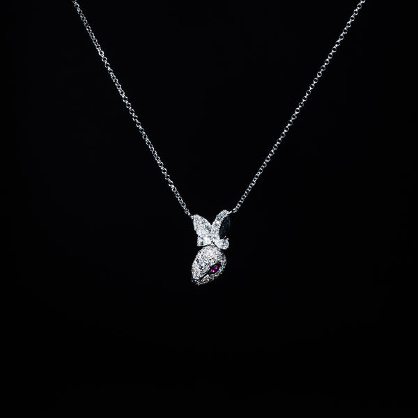 18K White Gold Diamond Rabbit | Jress.com