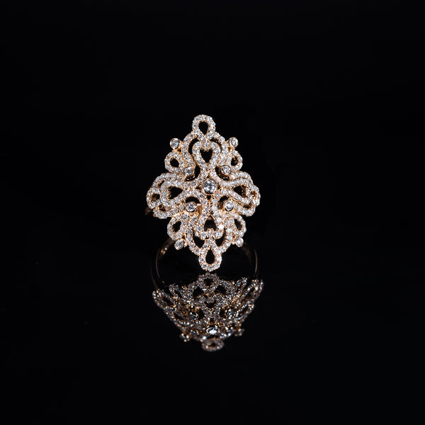 18K Rose Gold Diamond Ring | Jress.com
