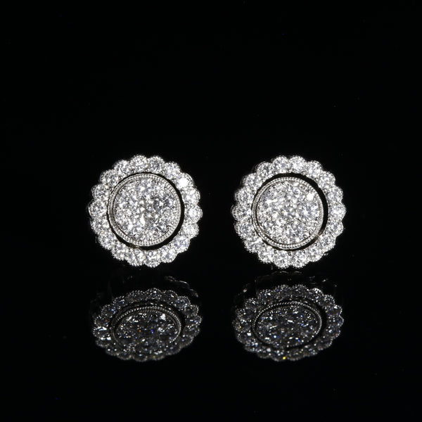 Day, Night and Eclipse (Three Way Diamond Earring)