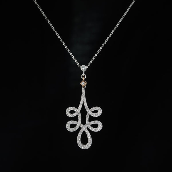 Spiral Diamond Pendant - Necklace not included (set available)