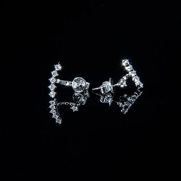 Your Smile - 18K White Gold Diamond Stud Earrings