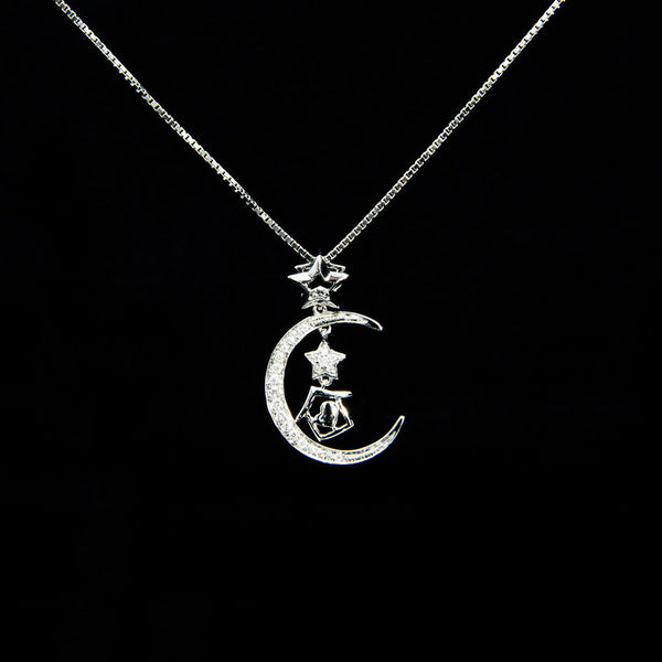 Holiday on the Moon Pendant (Necklace NOT included)