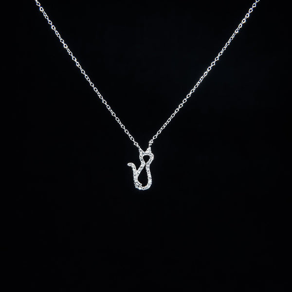 Best Friends in White - 18K White Gold Diamond Necklace