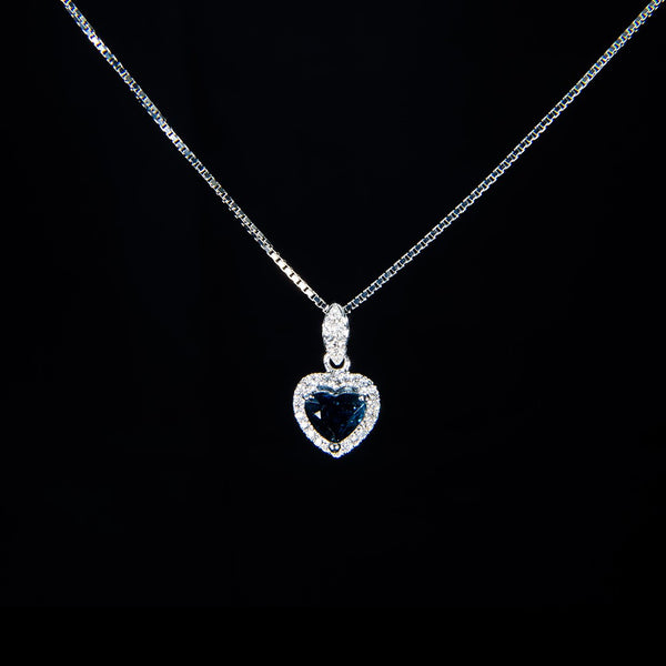 Icy Blue Heart Pendant (Necklace not included)