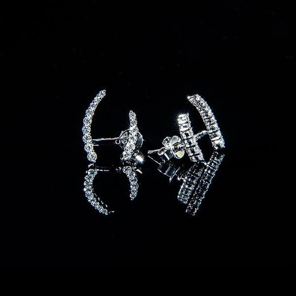 Whisper to Me - 18K Diamond Stud Earrings