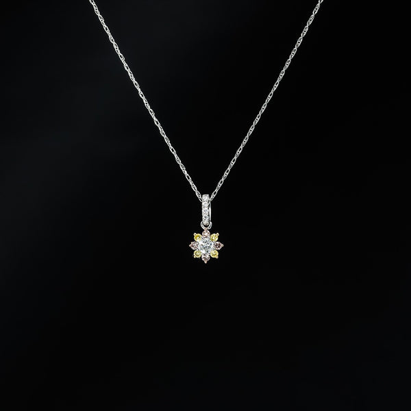 Fancy Diamond Pendant - Necklace not included