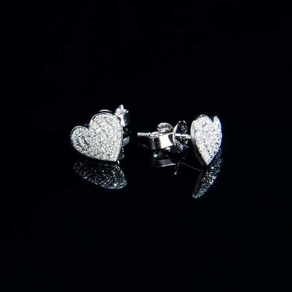 Love is in the Air - 18K White Gold Stud Earrings