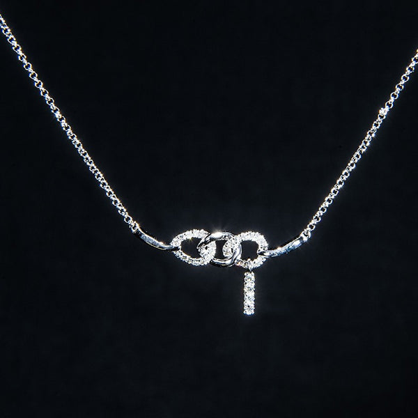 Bonded - 18K White Gold Diamond Necklace