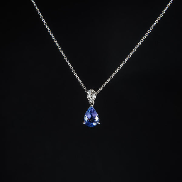 Eye Catching Single Piece Tanzanite Pendant - 18K Pendant (Necklace not included)