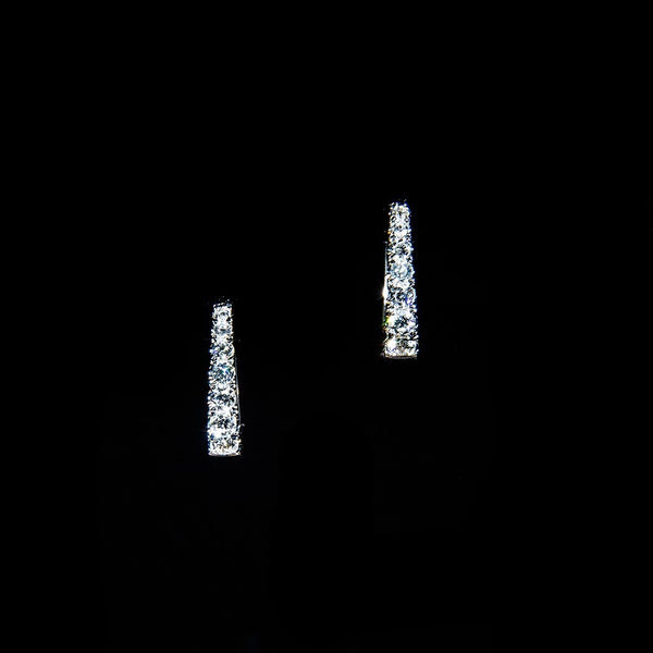Diamond Hoop - 18K Diamond Hoop Earrings