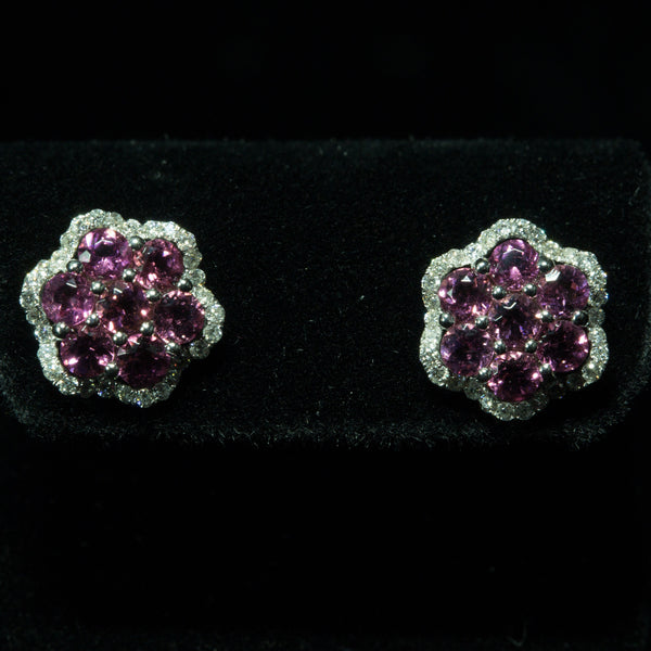 Tourmaline Diamond Earring
