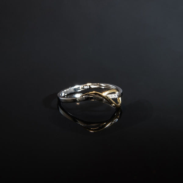 Simple and Timeless Ring - 18K White and Yellow Gold Ring
