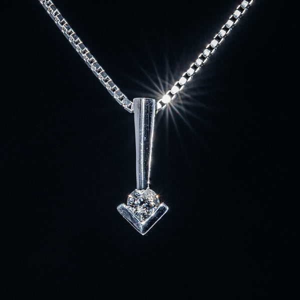 Right Here - 18k White Gold Pendant -Necklace not included