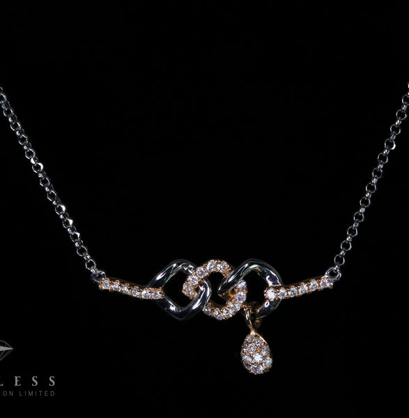 Bonds and connections - 18k Diamond Necklace