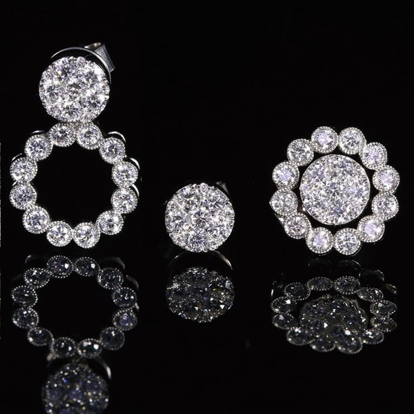 3 Way Diamond Earring