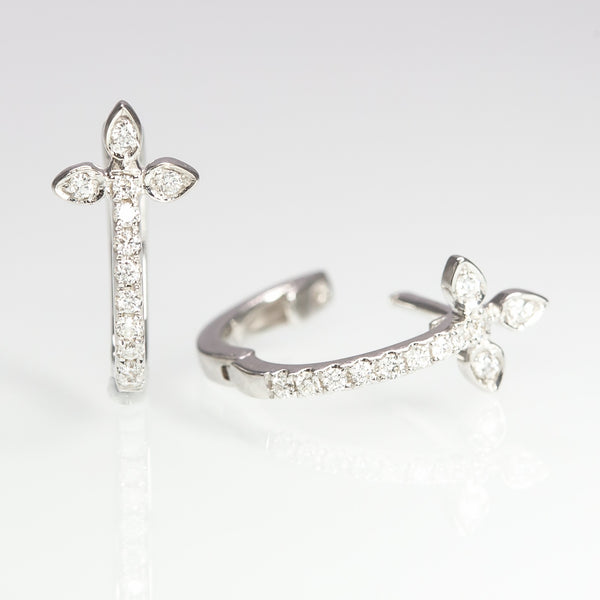 Cross Diamond Earrings