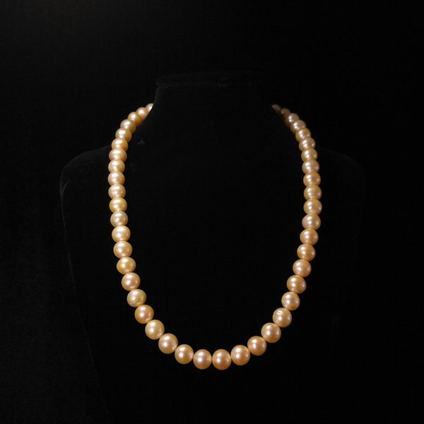 Light Orange Pearl Necklace