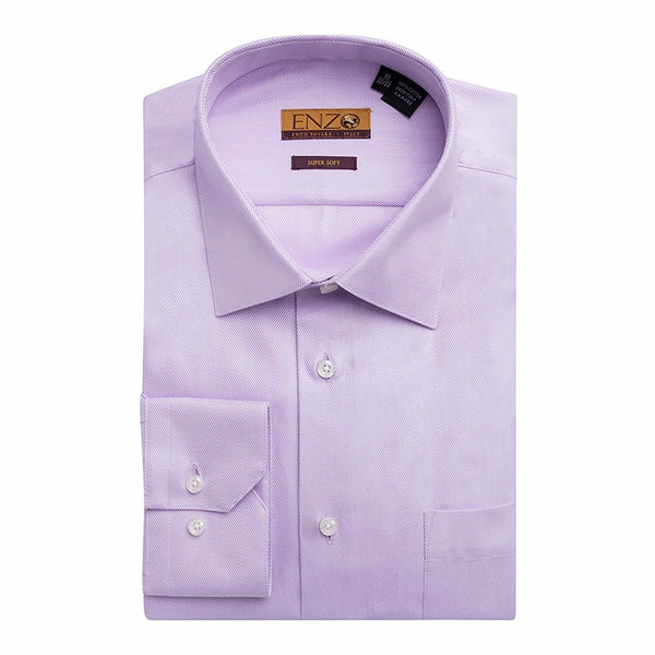 Twill Lavender Cotton French Cuff Dress Shirt