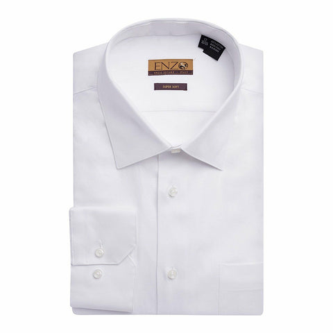 Twill White Cotton French Cuff Dress Shirt