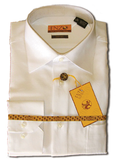 Twill White Cotton Barrel Cuff Dress Shirt