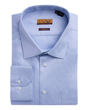 Twill Light Blue Cotton Barrel Cuff Dress Shirt