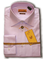 Twill Lavender Cotton Barrel Cuff Dress Shirt
