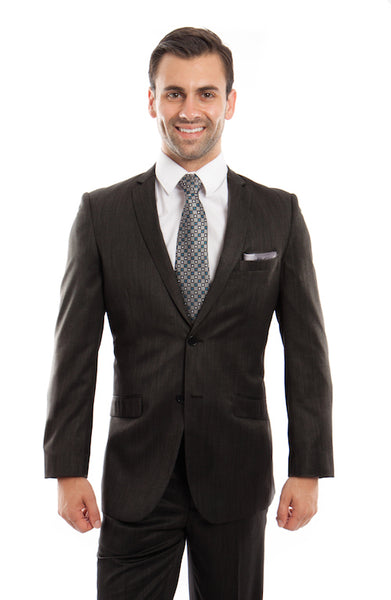 Black Chalk Stripe Slim Fit Suit