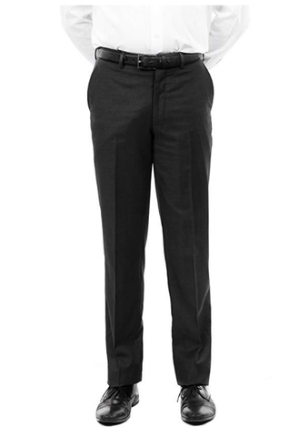 Black Slim Fit Flat Front Dress Pants